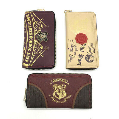 Harry potter zipper wallet PU long Coin Purse Men Women Leather Layers gift