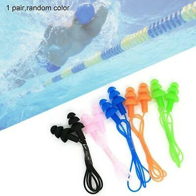 1 paire Swimmer durable Bouchons d'oreille Ear Corded plug Mold Réutilisable