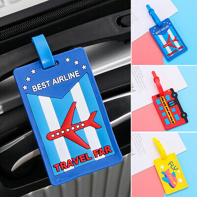 Luggage Tag Travel Suitcase Bag Address Label Silicone Baggage ID Card Holder US
