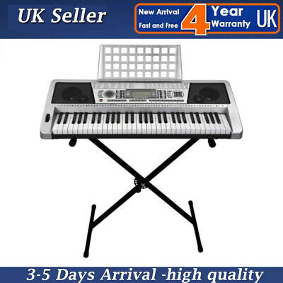 Glarry Keyboard Stand X Frame Folding Height Adjustable For 76 Keyboards Piano