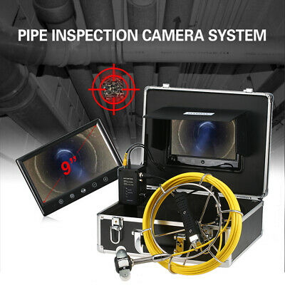 """9"""" 20M Pipe Inspection Camera Drain Sewer Pipeline Industrial Endoscope Monitor"""