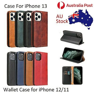 iPhone 11 Wallet Case Magnetic Leather Flip Cover Cards Slot Card Holder