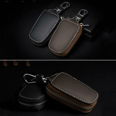 Car Key Protective Cover Leather Car Remote Control Holder Storage Bag Universal
