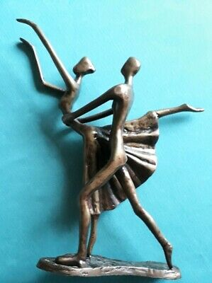 "Ballet dancing couple Figurine statue of dancers 11.25"" tall"