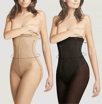 High Waist Slimming Pantyhose Fiore 20 Denier Hourglass Sheer Shaper Tights