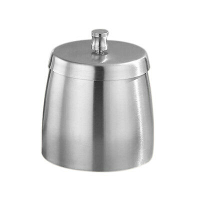 Outdoor Ashtray with Lid for Cigarettes Stainless Steel Windproof Rainproof A6C9