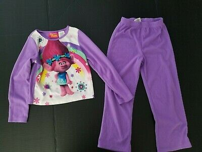 Girls Purple 2Pc Pyjamas Trolls Size 6X By Dreamworks