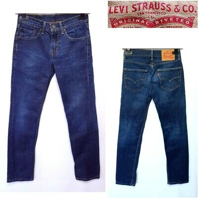 Levi Strauss 511 Men`s Jeans Size W28 L30 Blue Straight Slim Leg #40