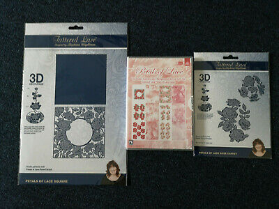 Tattered Lace Petals Of Lace Rose Carpet Die Collection With USB