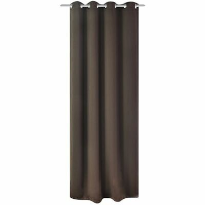 vidaXL Blackout Curtain with Metal Eyelets 270x245 cm Brown Window Drapes Home#