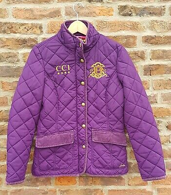 💜 JOULES LAND ROVER BURGHLEY Horse Trials Jacket Purple Quilted Coat Jacket 10