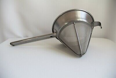 Piazza Conical Chinois Large Fine Mesh 100% Made in Italy 18/10 Strainer