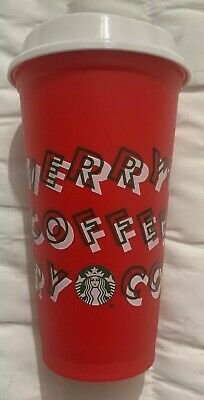 Starbucks 2019 Red Reusable Hot Cup Grande 16oz Limited Edition Holiday Xmas New