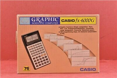 Untested Casio Vintage Fx-6000G Graphics Scientific Calculator In Original Box