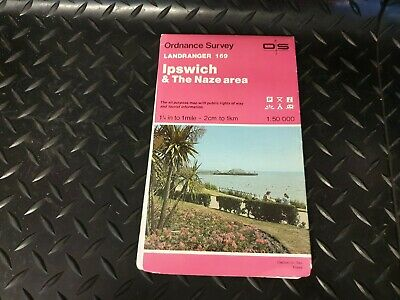 Ipswich The Naze Landranger 169 OS Map 1:50000 Ordnance Survey