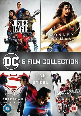 DC 5 Film Collection [DVD] [2018] New Sealed - Justice League / Wonder Woman
