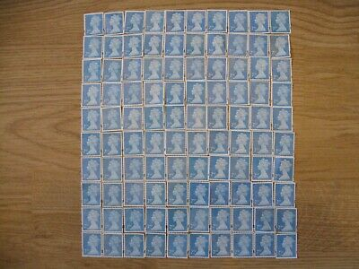 100 x 1ST CLASS & 150 x 2ND CLASS STAMPS UNFRANKED OFF PAPER NO GUM - FV £161.50