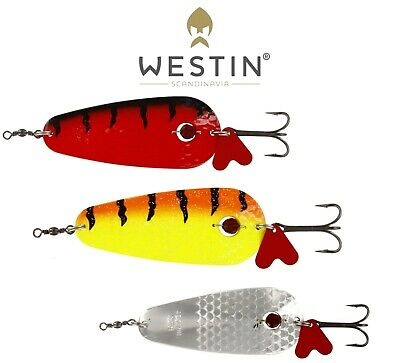 10pc 63mm//5.1g Flash Metal Spoon Spinner CrankBaits Fishing Lures Hook Tackle US