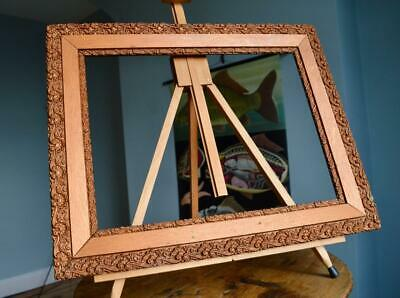 "Superb Antique Victorian Gilt & Gesso Picture Frame 16""X12"" Rebate Arts & Crafts"
