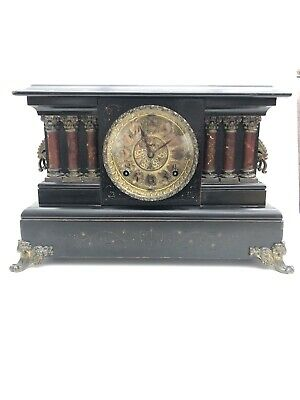 Antique Mantle Clock By E.Ingraham & Co. Mid 19Th Century (1879) W/pendulum