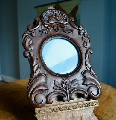 SUPERB ANTIQUE VICTORIAN CARVED OAK PICTURE FRAME v ARTS & CRAFTS NOUVEAU DECO