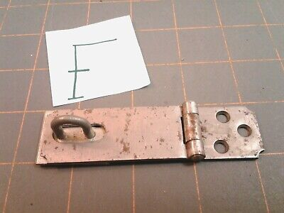Steel Folding HINGED HASP and KEEPER HARDWARE Vintage NO. F