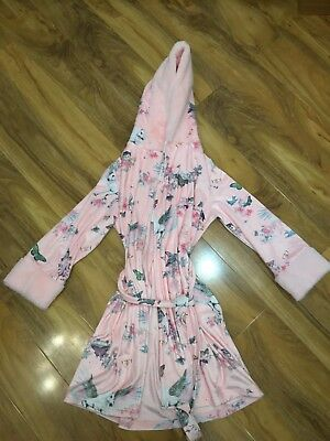 BNWT TED BAKER girls 9-10Y PINK FLORAL NIGHT ROBE