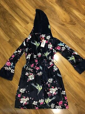 Bnwt Ted Baker 8-9Y Navy Blue Floral Night Robe
