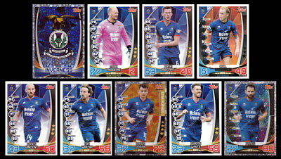Match Attax Spfl 2019/20 Inverness Full 9 Card Team Set