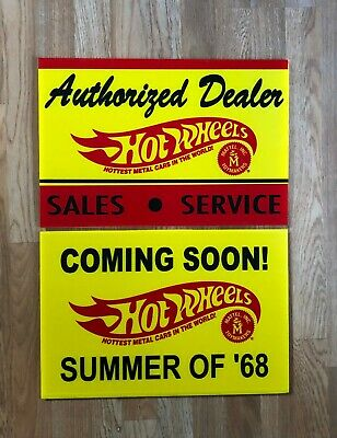 Hot Wheels Signs, Authorized Dealer Sales Service & Summer of 68