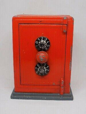 RARE Antique SAFE Money Box. Working Combination. Made In Italy