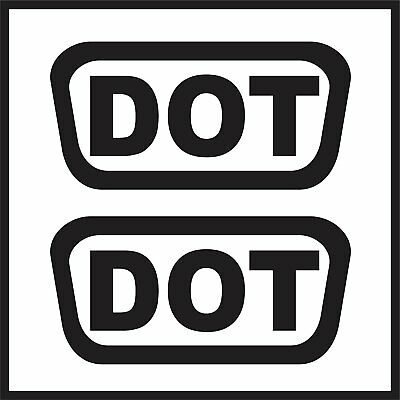 2 DOT HELMET DECALS Replacement D.O.T. Approved Stickers Decal Set Labels
