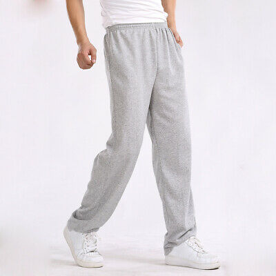 Jogger Sweatpant Size Pants Casual Trousers Walking Sport Mens Gym Plus Loose