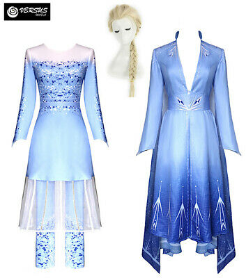 Frozen 2 pz Elsa Vestito Costume Carnevale Donna Dress up Woman Pants FROWOM01