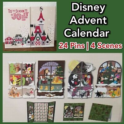 Disney Parks 2019 Mystery Pin Set Advent Calendar Limited 1200 Christmas Holiday