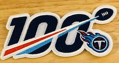 """2019 100th ANNIVERSARY 100 SEASONS TENNESSEE TITANS NFL PATCH 5"""" IRON ON"""