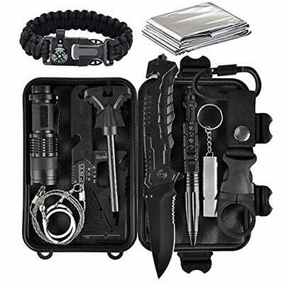 lanqi 13 Pieces Survival kit, Professional Emergency Camping Gear.