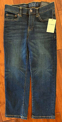 Lucky Brand Little Boys Classic Straight Fit Denim Jeans Blue❤️size 4/5 NEW $39