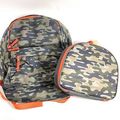 Gymboree Boy Toddler Backpack Lunch Box Combo Frog Geometric Camo Skake UPic NEW
