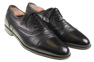Mezlan Florence Black Deerskin Leather Vamp Cap Toe Oxford Dress Shoes 13 B