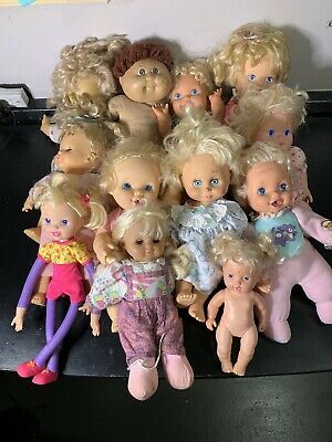 1990's Vintage Baby Doll Lot Tyco Cabbage Patch Toy Biz Kenner Hasbro Cititoy
