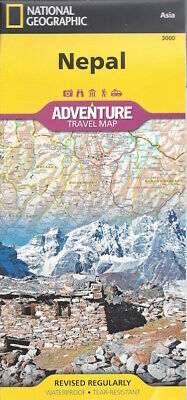 National Geographic Nepal Adventure Travel Map Waterproof 2019 edition