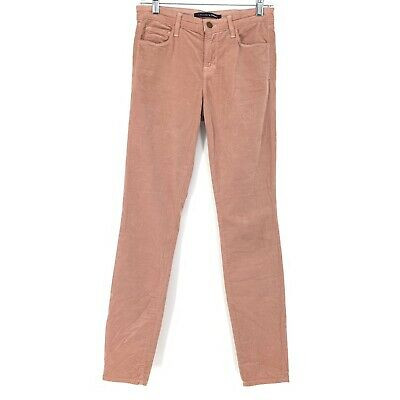 J Brand For Theory Women's Size 26 Skinny Leg Corduroy Pants Blush Pink Posy