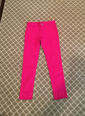 Childrens Place Girls Pants Stretchy Jeggings Pink 2 Pockets Zip Up SIZE 10