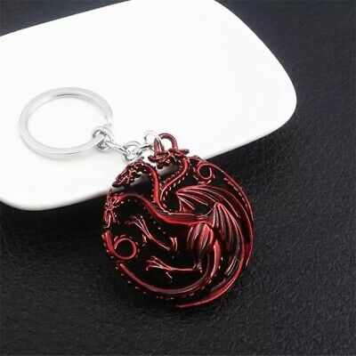Game of Thrones House Targaryen Logo Alloy Key Chains Keychain Keyfob Keyring