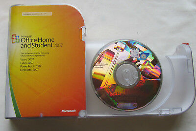 MICROSOFT OFFICE HOME & STUDENT 2007 dvd EDITION *3 USER license* 79G-00007...