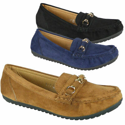 Womens Pumps Loafers Ladies Boat Slip On Flats Work Office School Comfy Shoes