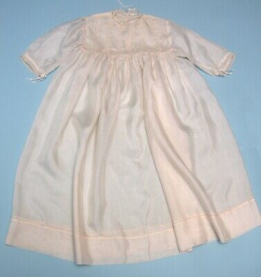 Antique Christening gown / Party Dress Cream Silk  2-3 years