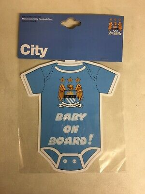 Manchester City Official Football Club BABY ON BOARD CAR HANGER Gift Xmas
