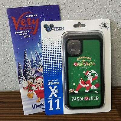 Disney Parks 2019 Mickey's Very Christmas Party Passholder iPhone Case Xr/11